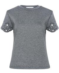 Carven - Anglaise Embroidery Top - Lyst