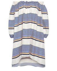 7934725fd4 Tanya Taylor - Sunset Stripe Off The Shoulder Dress - Lyst