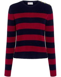 RED Valentino - Striped Sailor Sweater - Lyst
