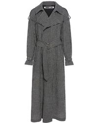 McQ - Gingham Belted Trench Coat - Lyst