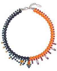 Joomi Lim - Crystal & Pearl Necklace - Lyst