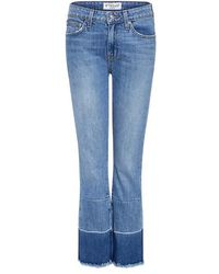 10 Crosby Derek Lam - Jane Mid Rise Flared Cropped Jeans - Lyst