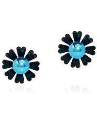 KENZO - Daisy Mirrored Beads Clip On Earrings - Lyst