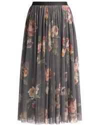 be5237f4f Needle & Thread Embellished Tulle Maxi Skirt in White - Lyst
