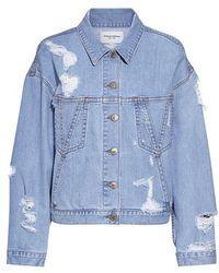 Public School | Polly Distressed Denim Jacket | Lyst