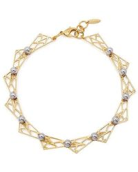Joomi Lim - Spheres With Hinged Triangle Necklace - Lyst
