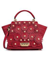 Zac Zac Posen - Eartha Pearl Floral Applique Top Handle Shoulder Bag - Lyst