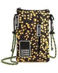 Ganni - Azalea Floral Logo Necklace Bag - Lyst