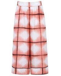 Thakoon - Tie Die Silk Cropped Culottes - Lyst