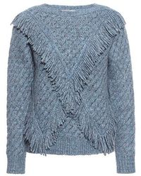 Rebecca Taylor - Fringe Sweater - Lyst