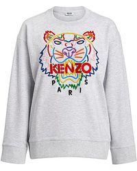 KENZO - Rainbow Tiger Embroidered Oversized Sweatshirt - Lyst