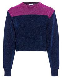 M Missoni - Metallic Colorblock Cropped Sweater - Lyst