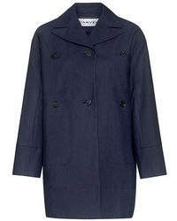 Carven - Cotton Gabardine Coat - Lyst