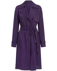 Theory - Oaklane Silk Trench Coat - Lyst
