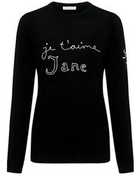 Bella Freud - Je T Aime Jane Embroidered Jane Sweater - Lyst