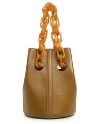 Trademark - Cowhide Goodall Resin Chain Bucket Bag - Lyst