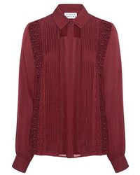 Tanya Taylor - Solid Silk Estelle Lace Blouse - Lyst