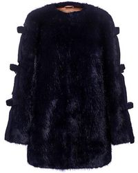 Shrimps - Elsie Bow Ties Fur Coat - Lyst