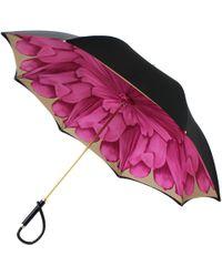Illesteva - Black With Pink Lotus Umbrella - Lyst