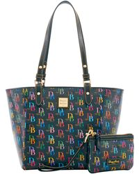 66c6e8e038ac Dooney & Bourke Serengeti Collection Janie Zebra-print Tote in Black ...