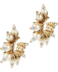 Erickson Beamon | My One And Only Pearl Small Hoop Earrings | Lyst