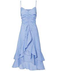 Joie - Eberta Striped Cotton High-low Ruffle Dress - Lyst