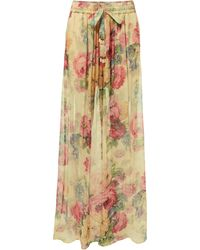 Zimmermann - Melody Wide Leg Pants - Lyst