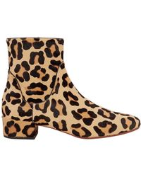 Francesco Russo - Leopard Haircalf Booties - Lyst