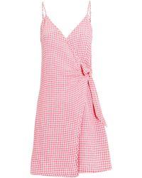 Rails - Malia Sleeveless Gingham Dress Pink/white S - Lyst