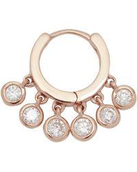 Jacquie Aiche - Diamond Shaker Hoop Earring - Lyst