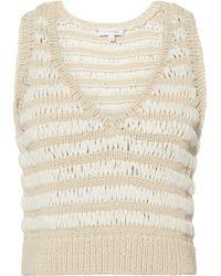 Intermix - Heidi Crochet White Knit Tank - Lyst