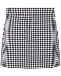 Tibi - Gingham Mini Skirt - Lyst