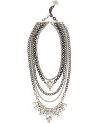Laura Cantu - Pre-layered Crystal Necklace - Lyst