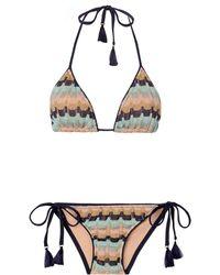 Suboo | Sage Ombre Triangle Bikini | Lyst