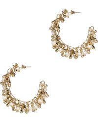 Flapper Gold-tone Multi-stone Clip Earrings - White Rosantica OlOnp5OH2j
