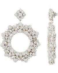 Deepa Gurnani - Amoran Silver Earrings - Lyst