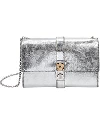 Proenza Schouler - Ps11 Silver Leather Clutch Chain Bag - Lyst