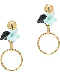 Lele Sadoughi - Hibiscus Hoop Earrings - Lyst