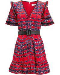 Self-Portrait - V-neck Mini Dress - Lyst