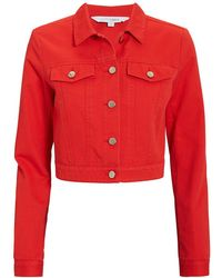Intermix - Kennedy Red Denim Jacket - Lyst