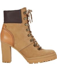See By Chloé - Claudia Lace-up Hiker Booties - Lyst