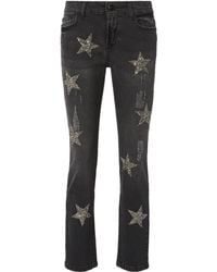 History Repeats - Silver Sequin Dark Grey Jeans - Lyst