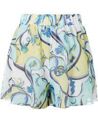 Emilio Pucci - Printed Coverup Shorts - Lyst