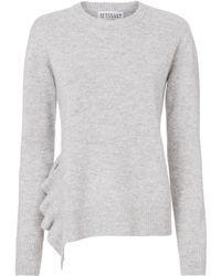 10 Crosby Derek Lam - Ruffle Detail Asymmetrical Hem Sweater - Lyst