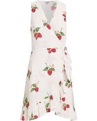 Rails - Madison Wrap Dress White/strawberry Print L - Lyst