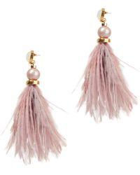 Lizzie Fortunato - Parker Feather Earrings - Lyst