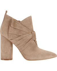 Sigerson Morrison - Kiran Bow Suede Booties - Lyst