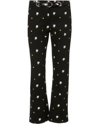 Miaou - Tommy Embroidered Jeans - Lyst