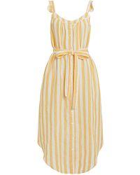 Birds Of Paradis Adele Striped Dress Yellow/white P