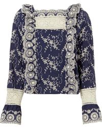 Nightcap - Clementine Embroidered Blouse - Lyst